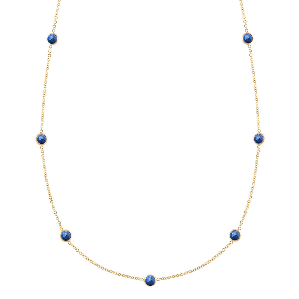 Bayberry Necklace in Gold with Lapis