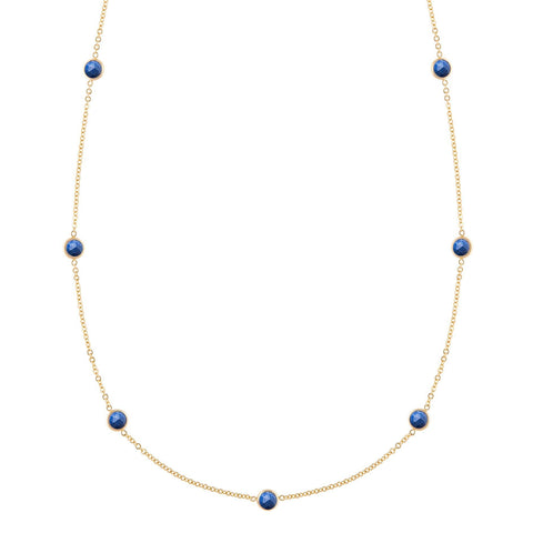 Bayberry Necklace in Gold with Milky Aquamarine