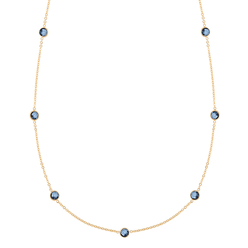 Bayberry Necklace in Gold with London Blue Topaz
