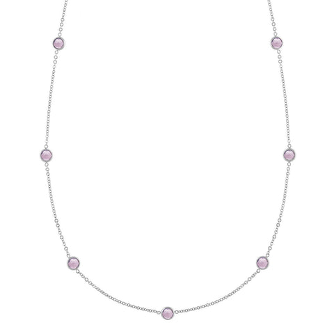 Bayberry Necklace in Silver with Pink Tourmaline