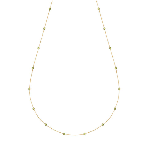 Birthstone Necklace 14k Gold - 6 Stones