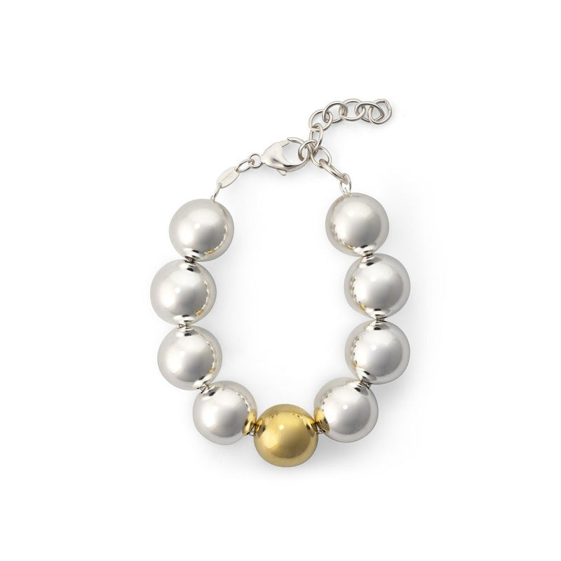 Bristol Bead Bracelet with 14K Gold