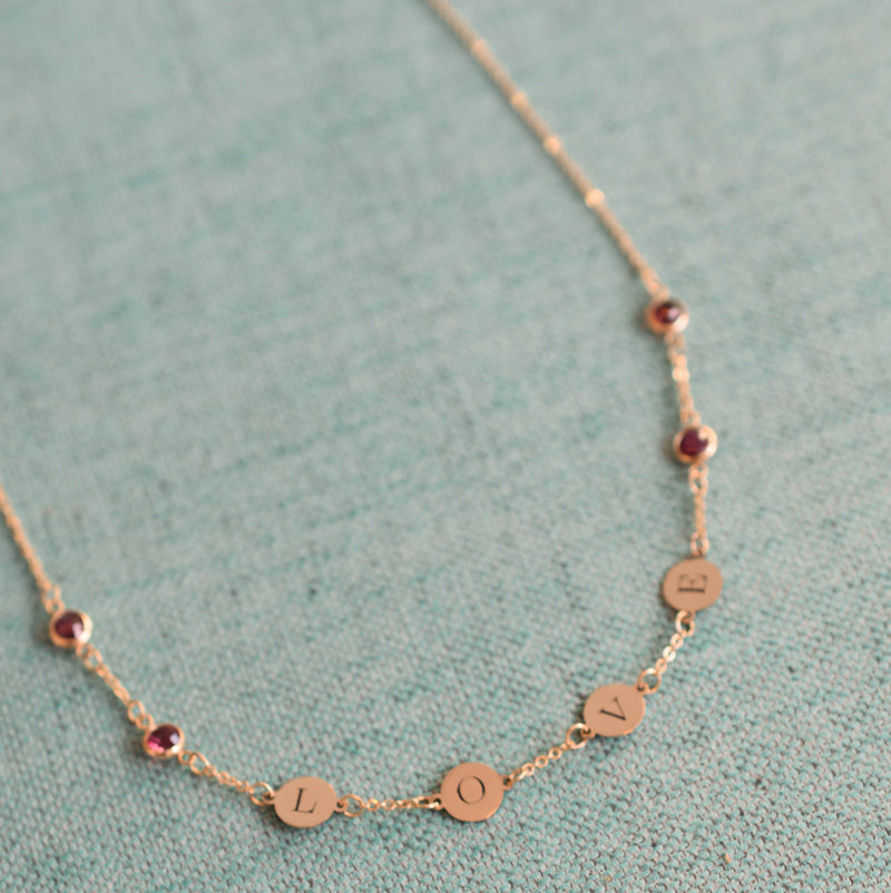 LOVE Necklace 14k Gold