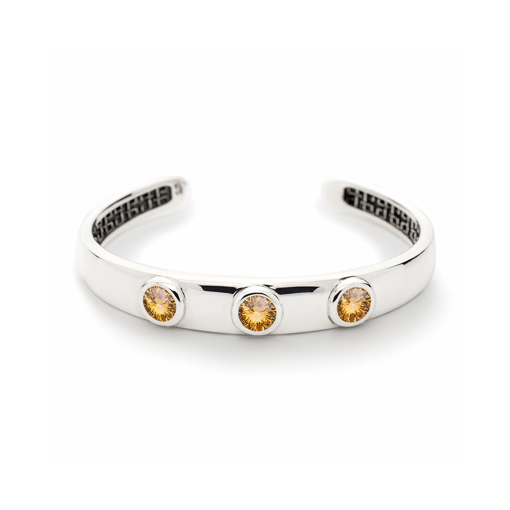 Charley Cuff with Stones in Citrine