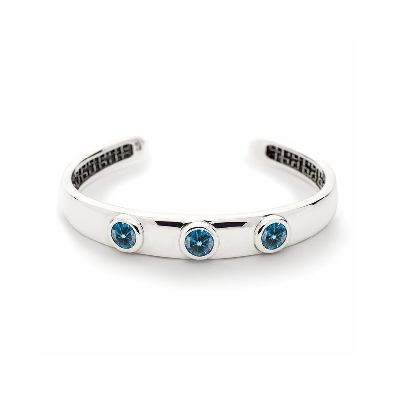 Charley Cuff with Stones in London Blue Topaz