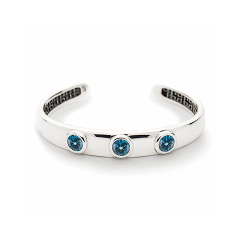 Charley Cuff with Stones in Nantucket Blue Topaz