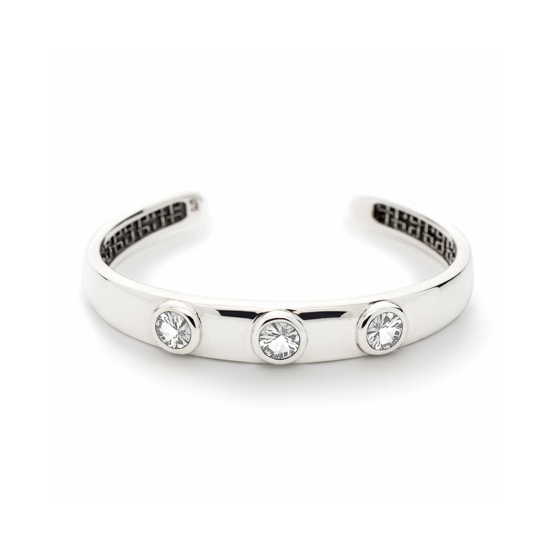 Charley Cuff with Stones in White Topaz