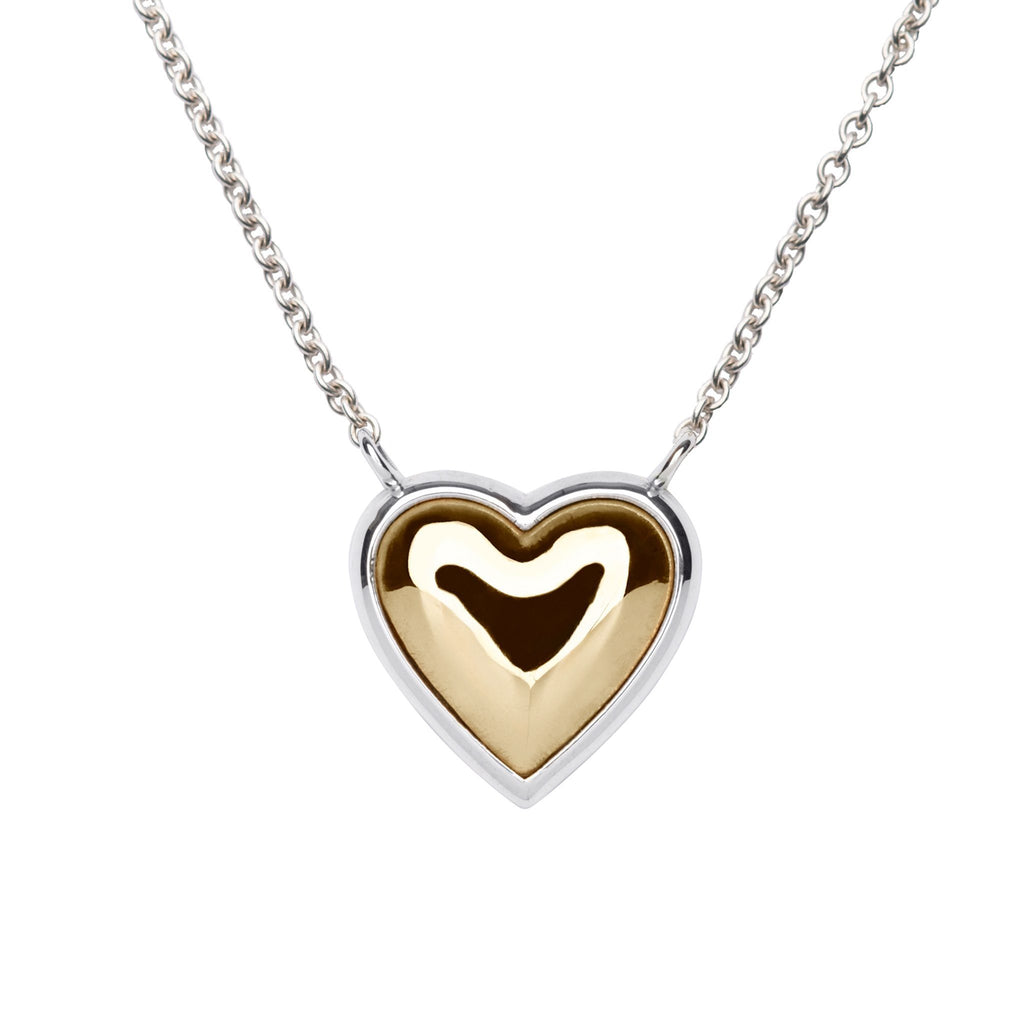 Charley Heart Necklace with Solid Gold