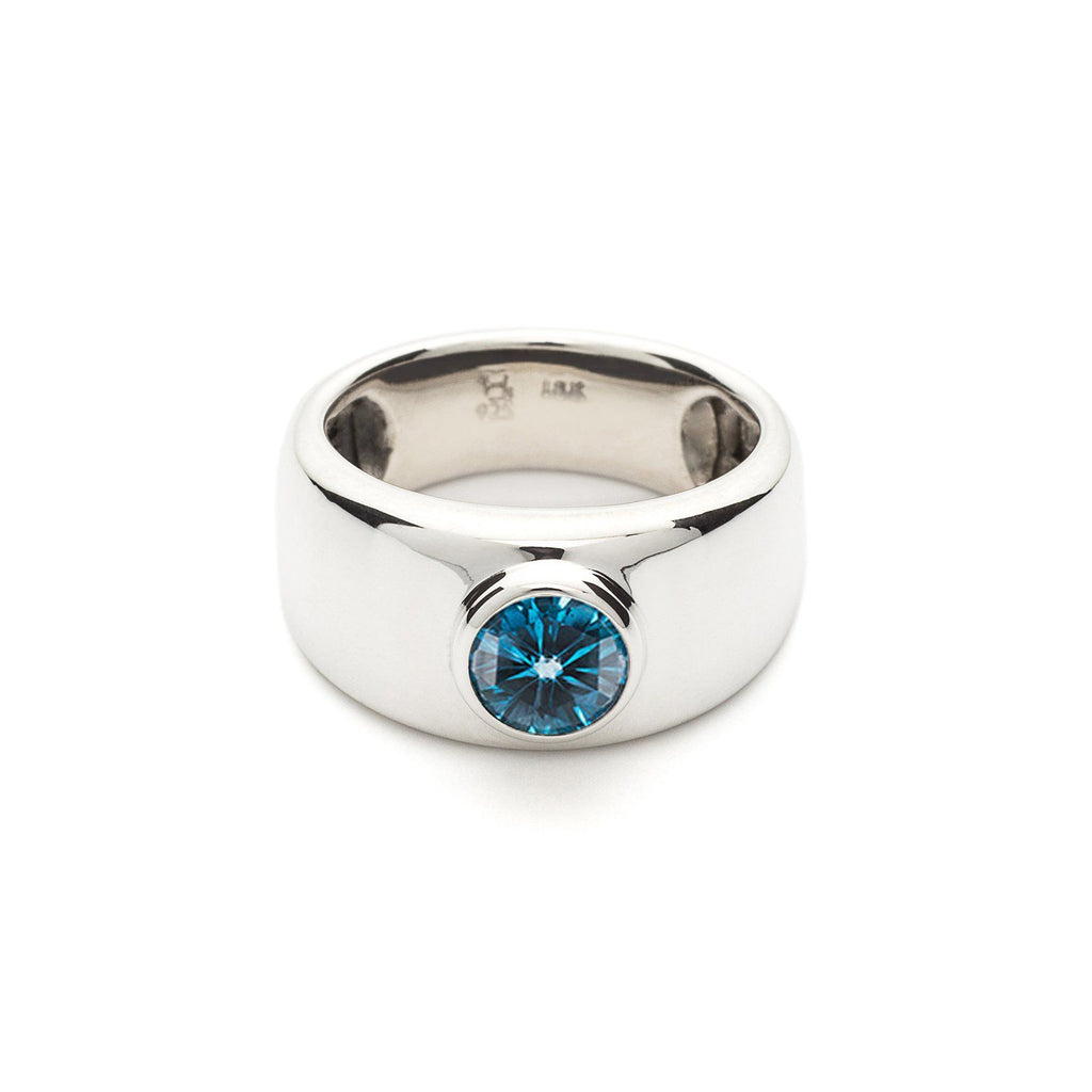 Charley Ring in London Blue Topaz