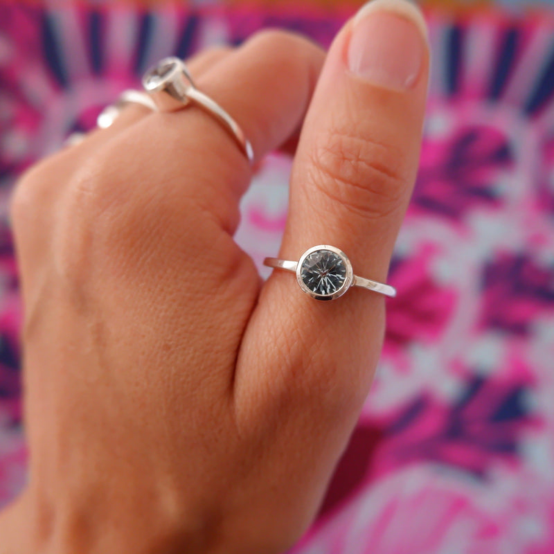 Lang Mini Ring in Nantucket Blue Topaz