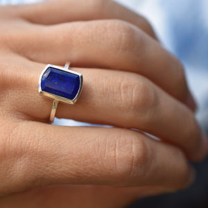 Ventana Vertical Ring in Lapis