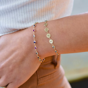 Hope Newport Bracelet with Amethyst, Sapphire, and Nantucket Blue Topaz