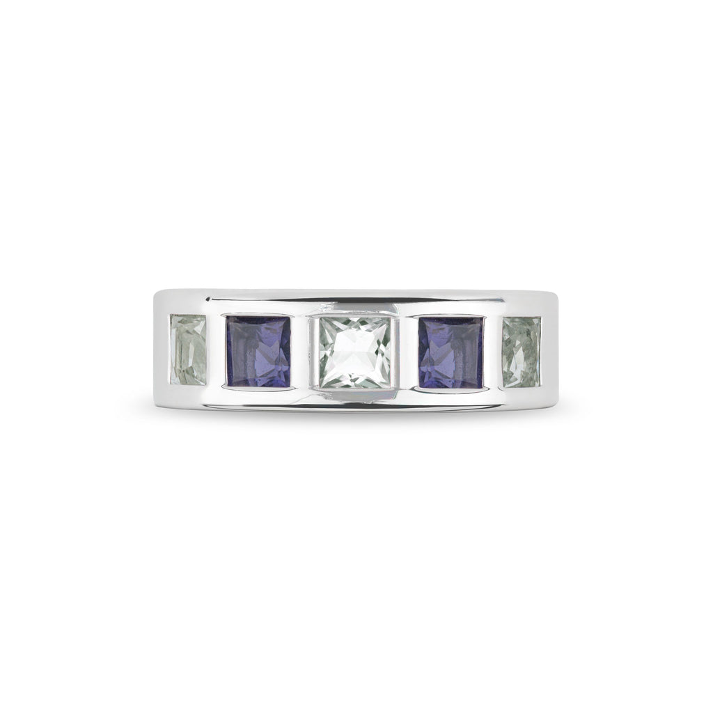 Chestnut Street Ring in Mint Quartz and Iolite