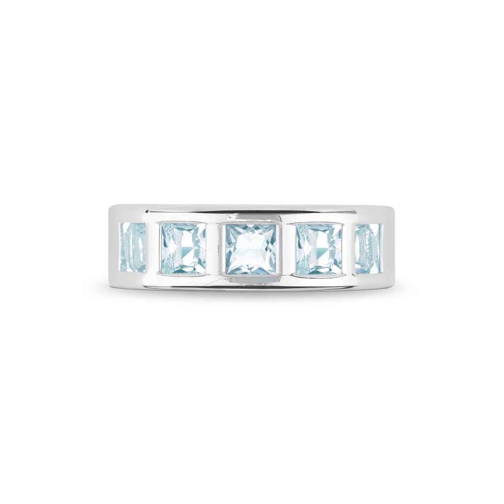 Chestnut Street Ring in Nantucket Blue Topaz