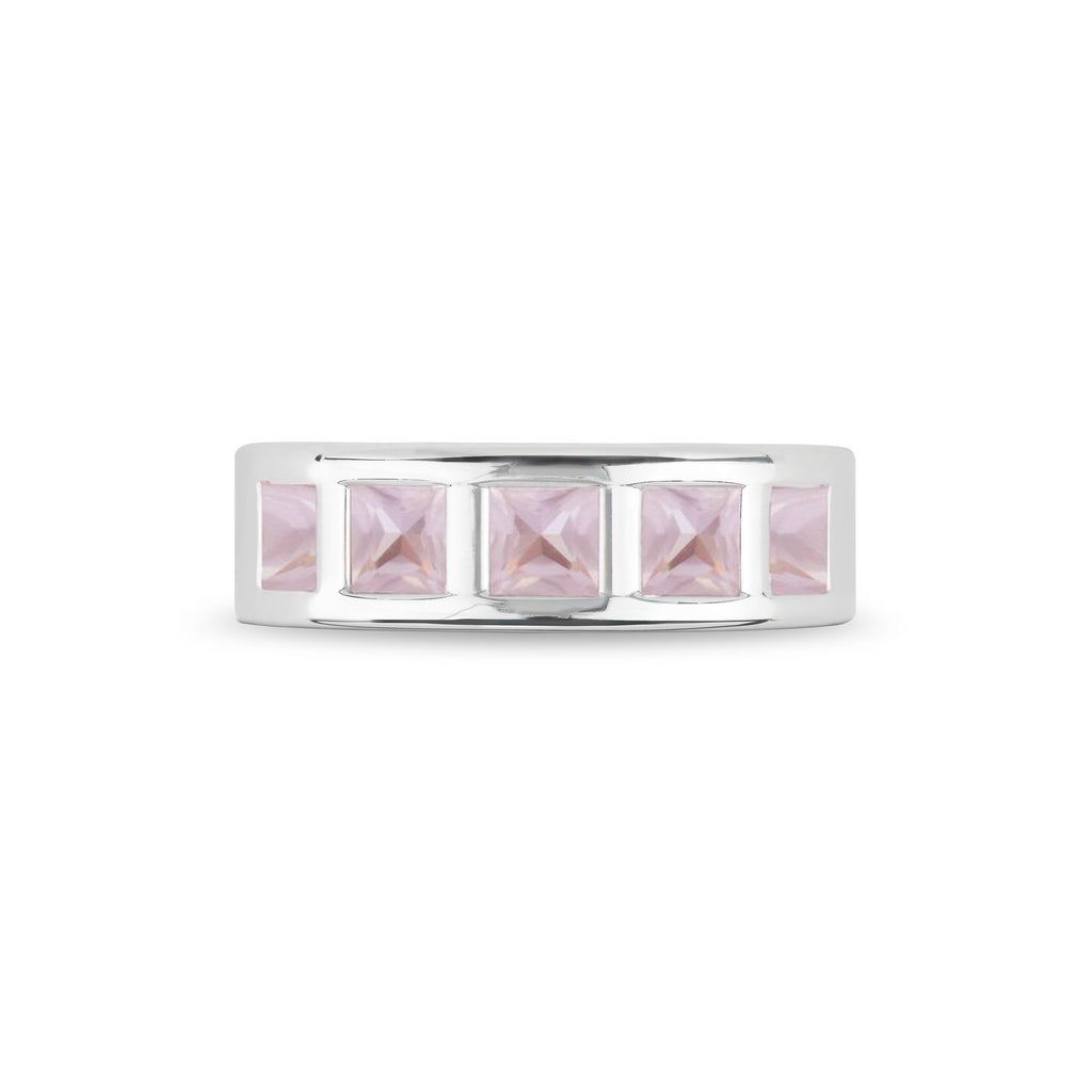 Chestnut Street Ring in Rose Quartz