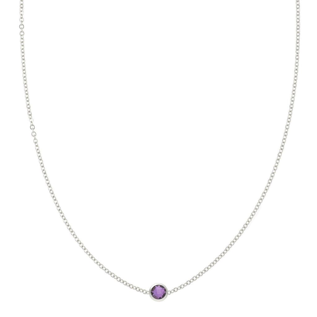 Eve Necklace in Silver with Amethyst (February)