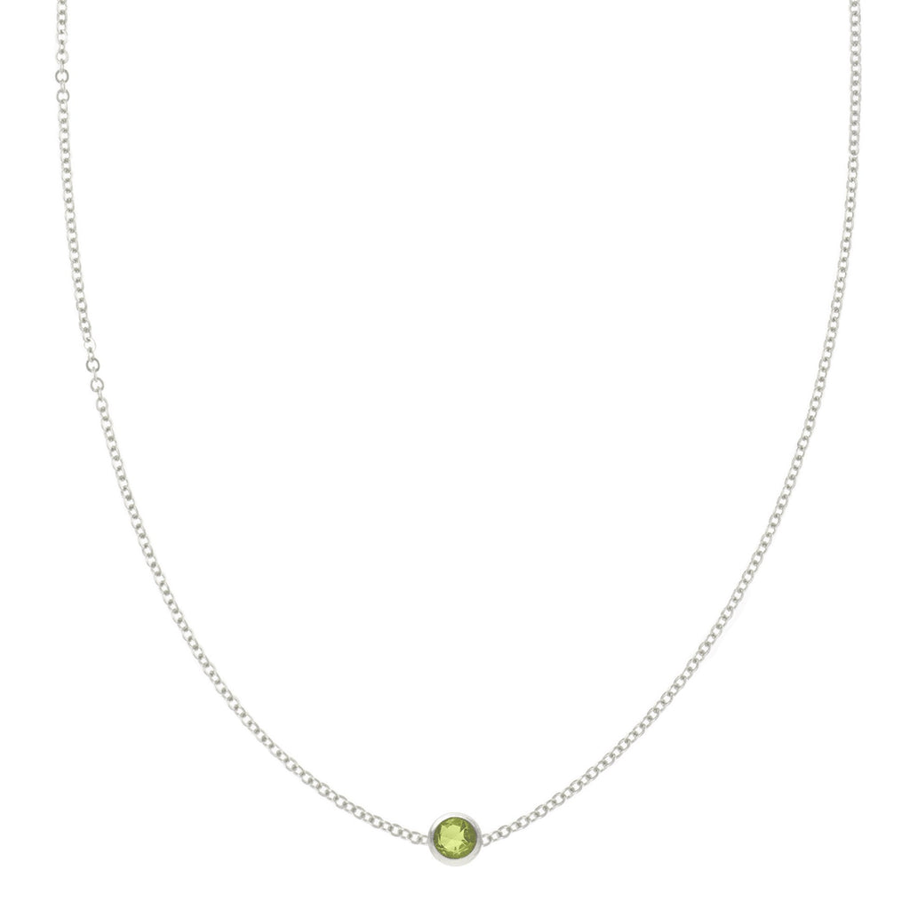 Eve Necklace in Silver with Peridot