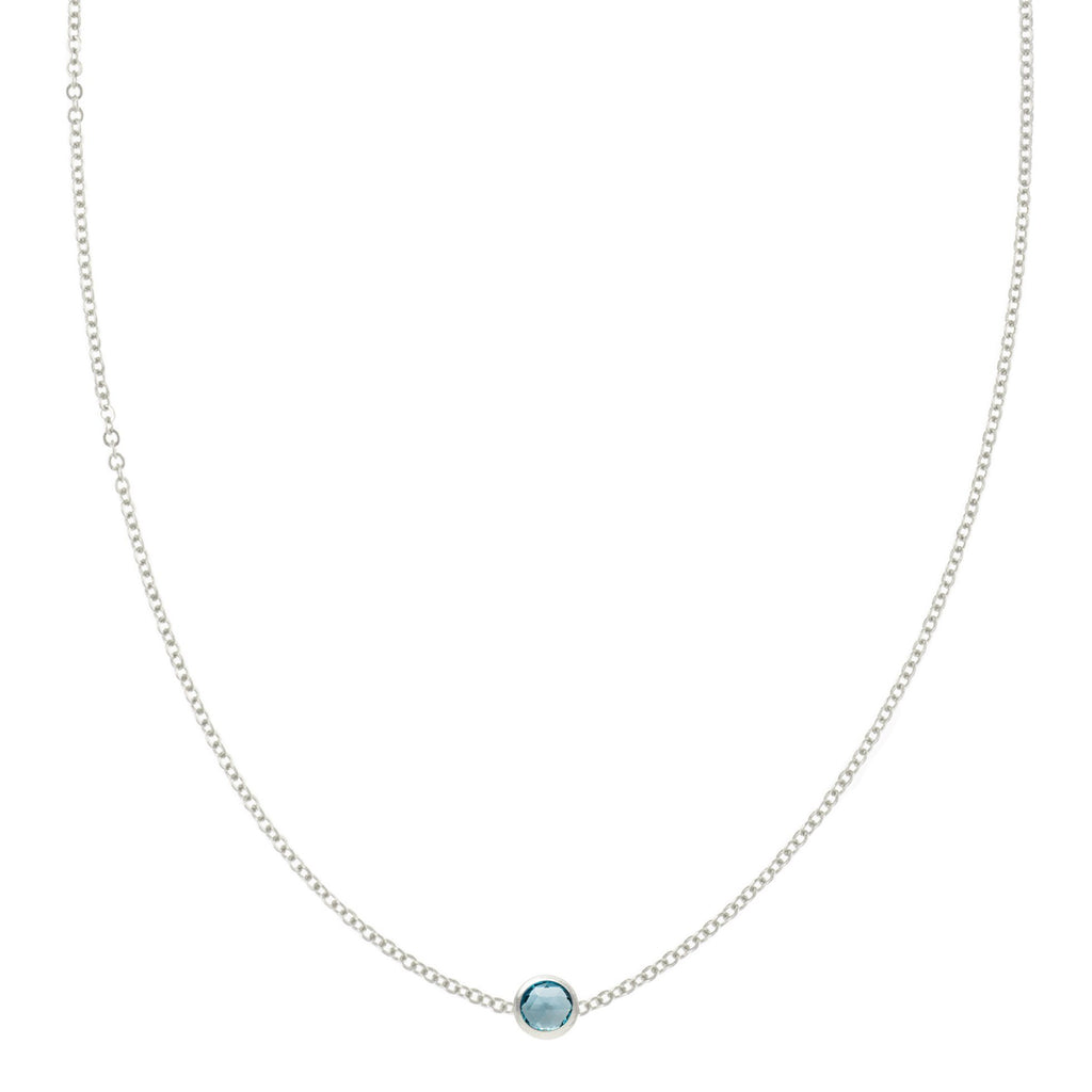 Eve Necklace in Silver with Swiss Blue Topaz