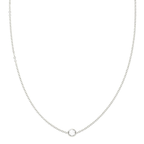 Birthstone Necklace 14k Gold - 2 Stones
