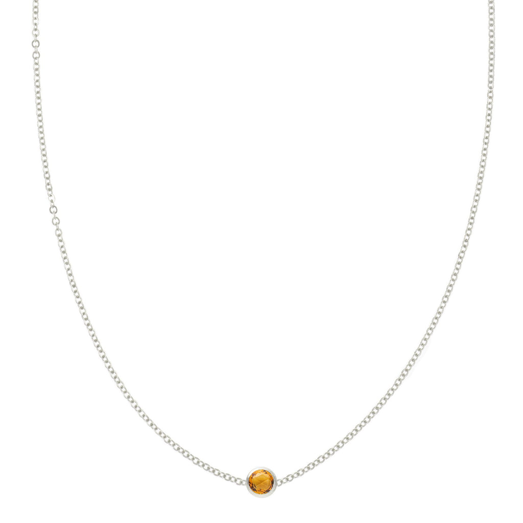 Eve Necklace in Silver with Citrine (November)