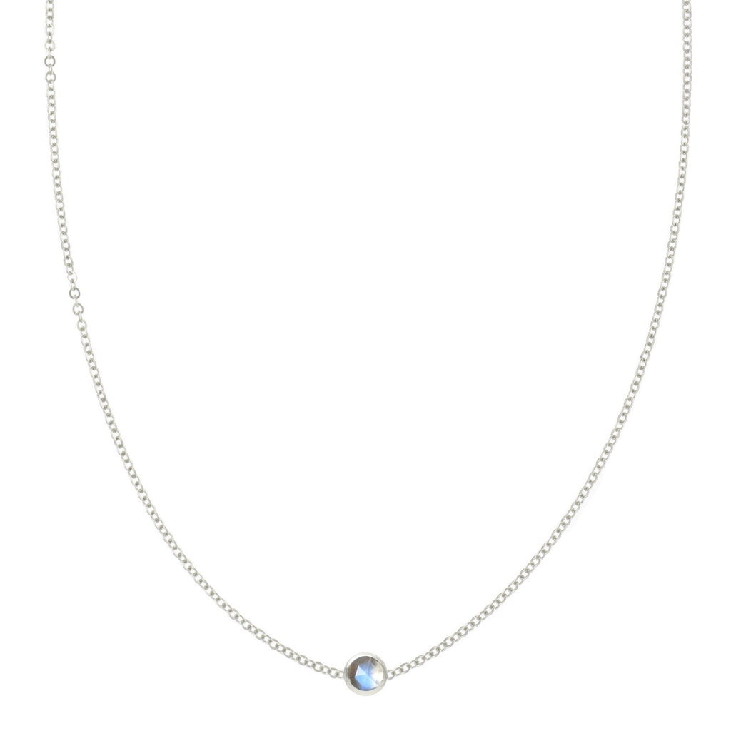 Eve Necklace in Silver with Moonstone (June)