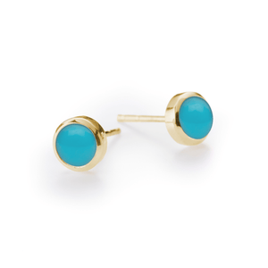 Gigi Earrings in 14k Gold in Turquoise