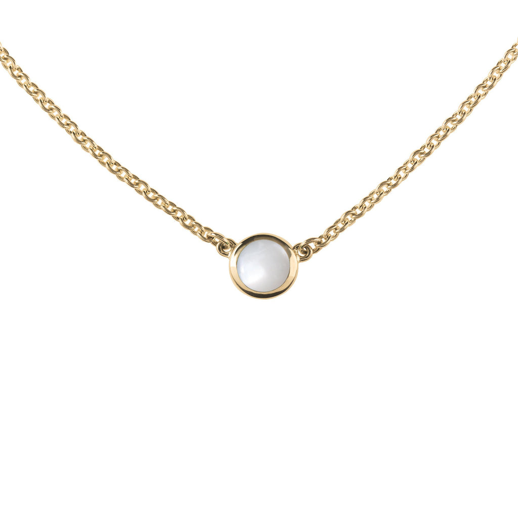 Gigi Necklace in 14k Gold in Mother of Pearl