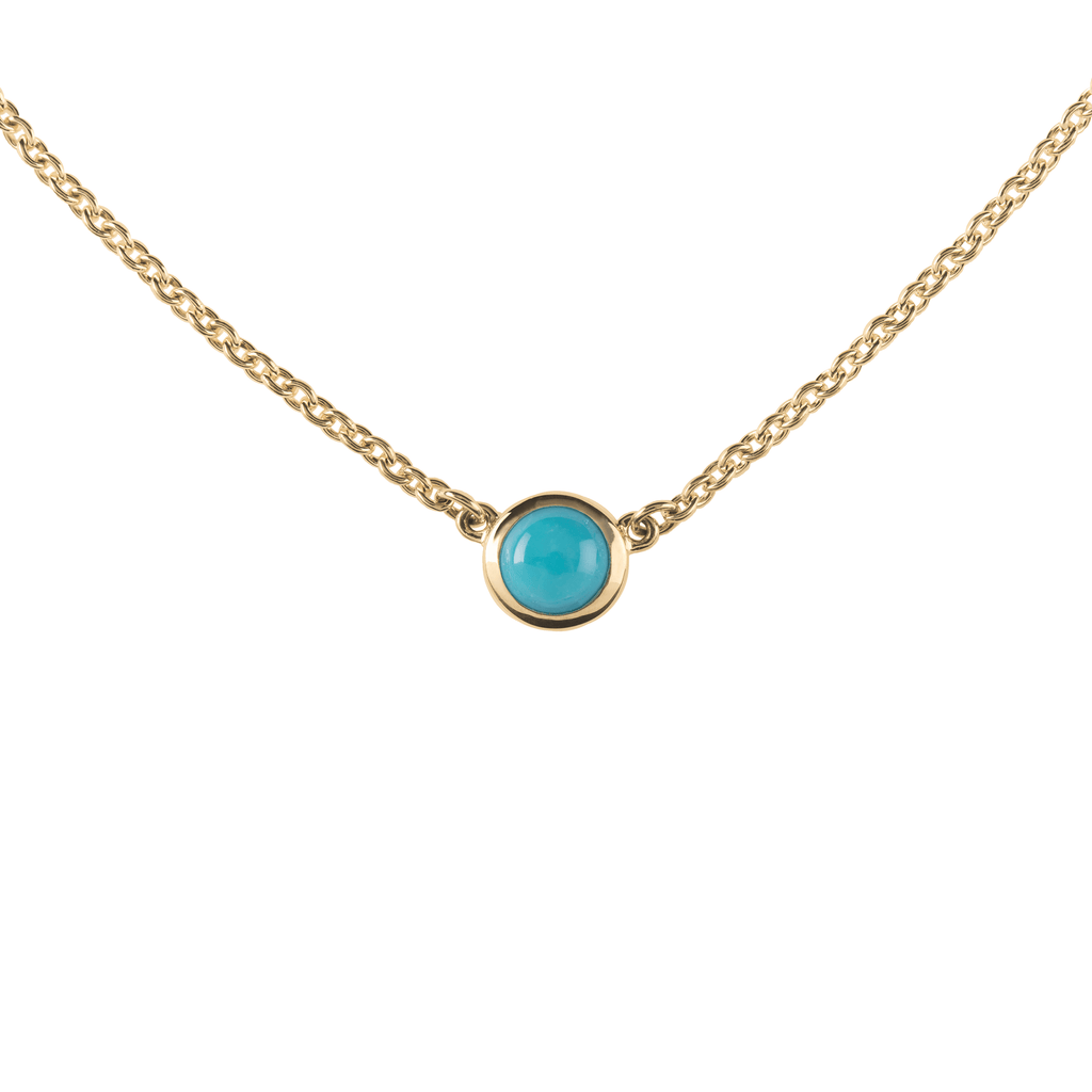 Gigi Necklace in 14k Gold in Turquoise