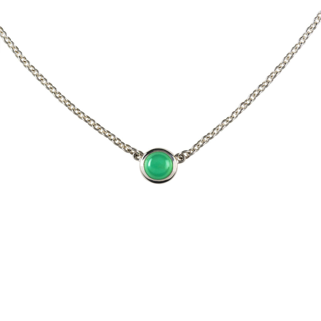 Gigi Necklace in Mint Chrysoprase