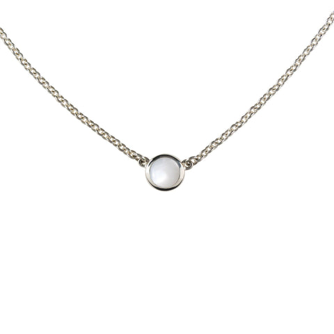 Bayberry Necklace in Silver with White Topaz