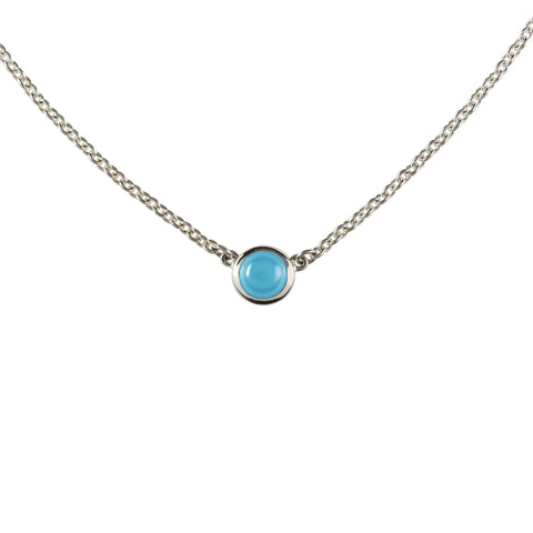 Bayberry Necklace in Silver with Nantucket Blue Topaz