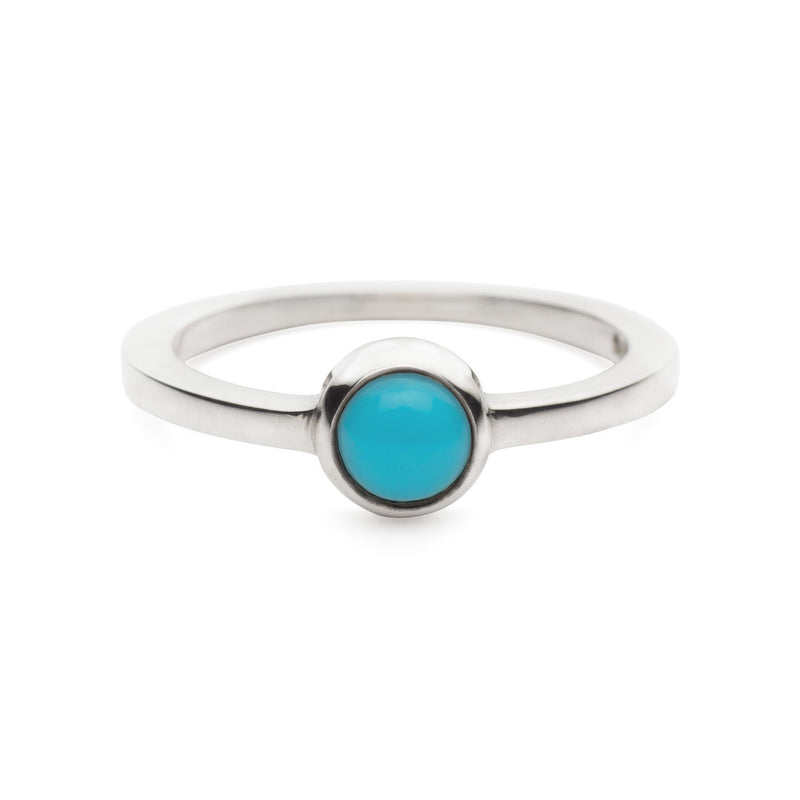 Cabochon Ring Sterling Silver with Turquoise (December)