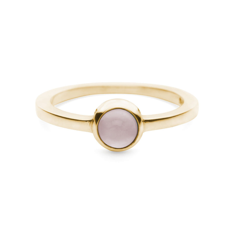 Gigi Ring in 14k Gold in Rose Quartz