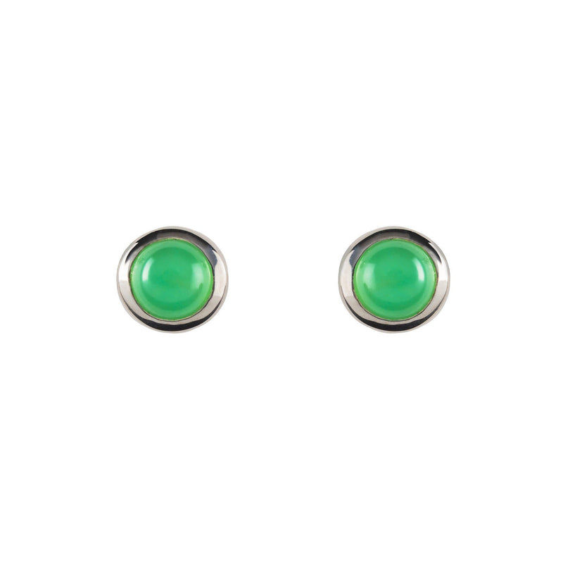 Gigi Earrings with 14k Posts in Mint Chrysoprase