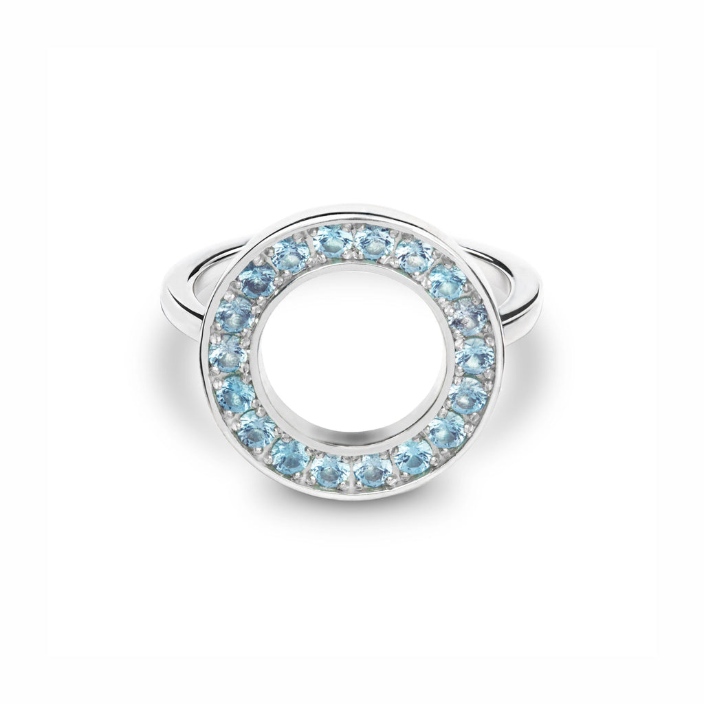 Helena Circle Ring in Nantucket Blue Topaz