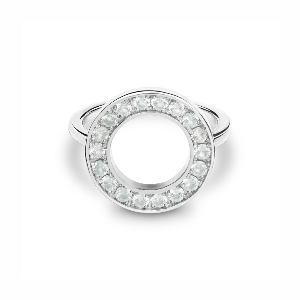 Helena Circle Ring in White Quartz