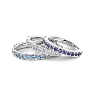 Helena Ring in Nantucket Blue Topaz
