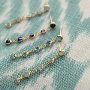 Newport Earrings 14k Gold with Sapphire (September)