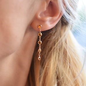 Newport Earrings 14k Gold with Citrine (November)