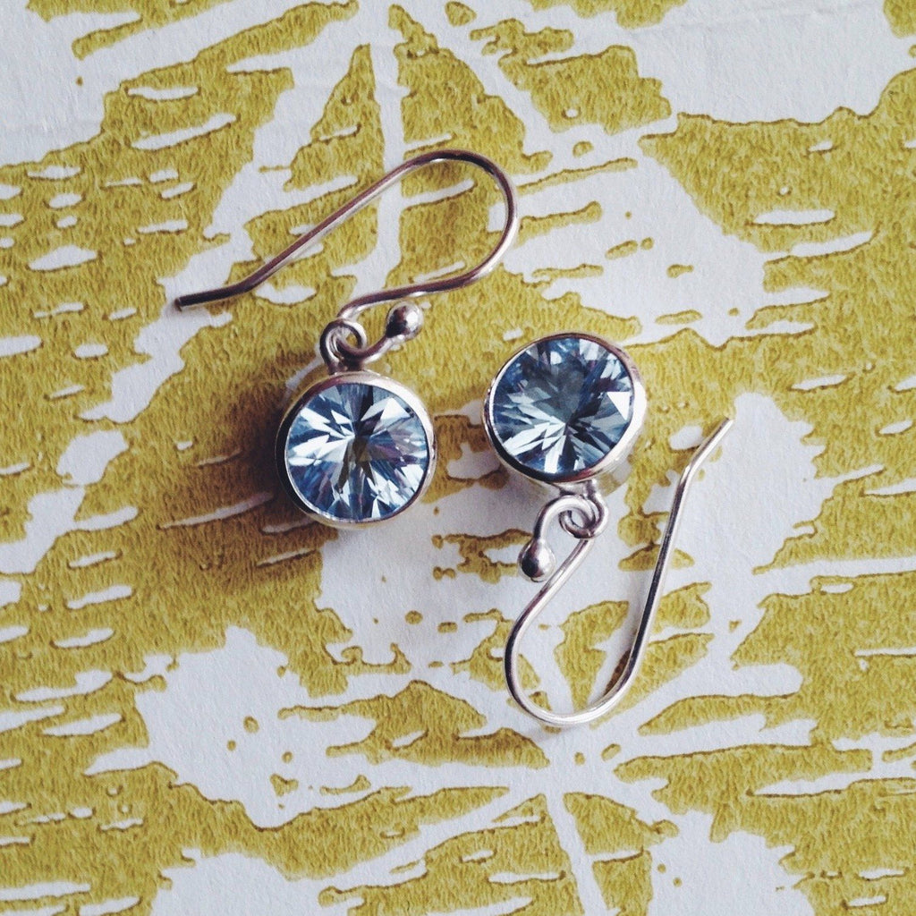 Lang Drop Earrings in Nantucket Blue Topaz