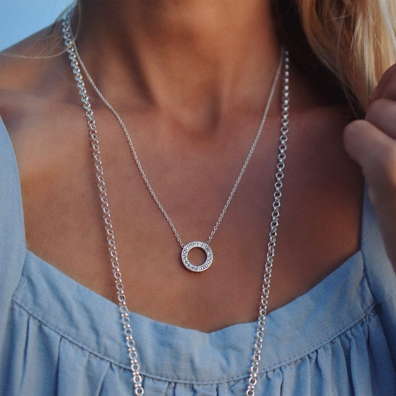 Helena Necklace in White Quartz