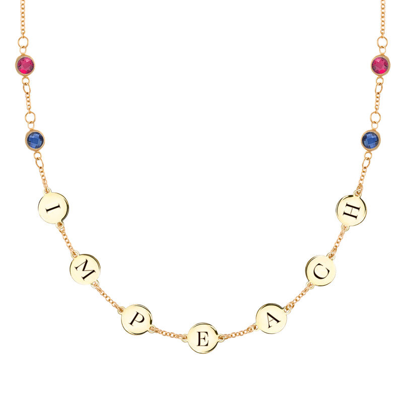 IMPEACH Necklace with Sapphires and Rubies 14k Gold