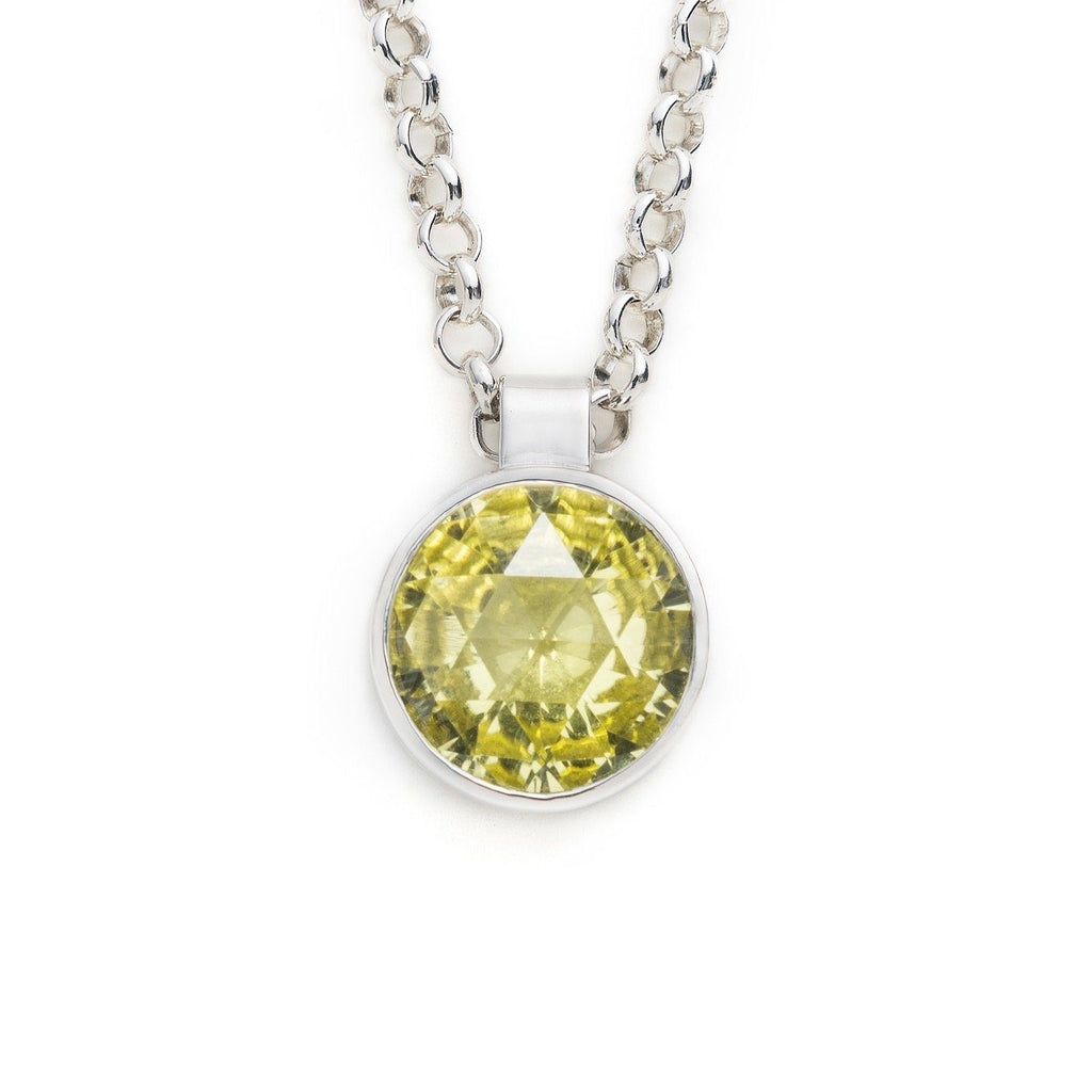 Lang Pendant in Lemon Citrine