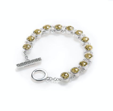 Birthstone Bracelet 14k Gold - 1 Stone - Emerald (May)