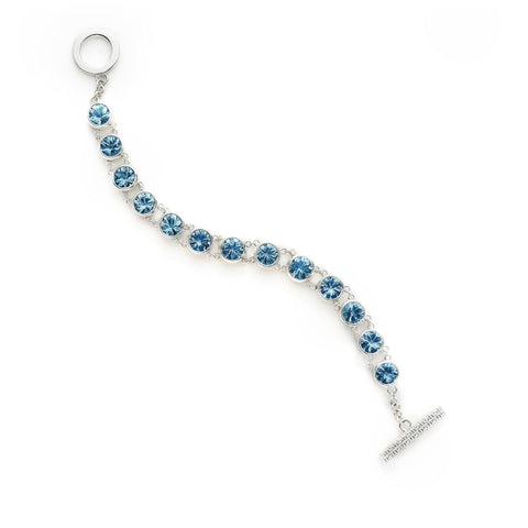Birthstone Bracelet 14k Gold - 1 Stone - Milky Aquamarine (March)