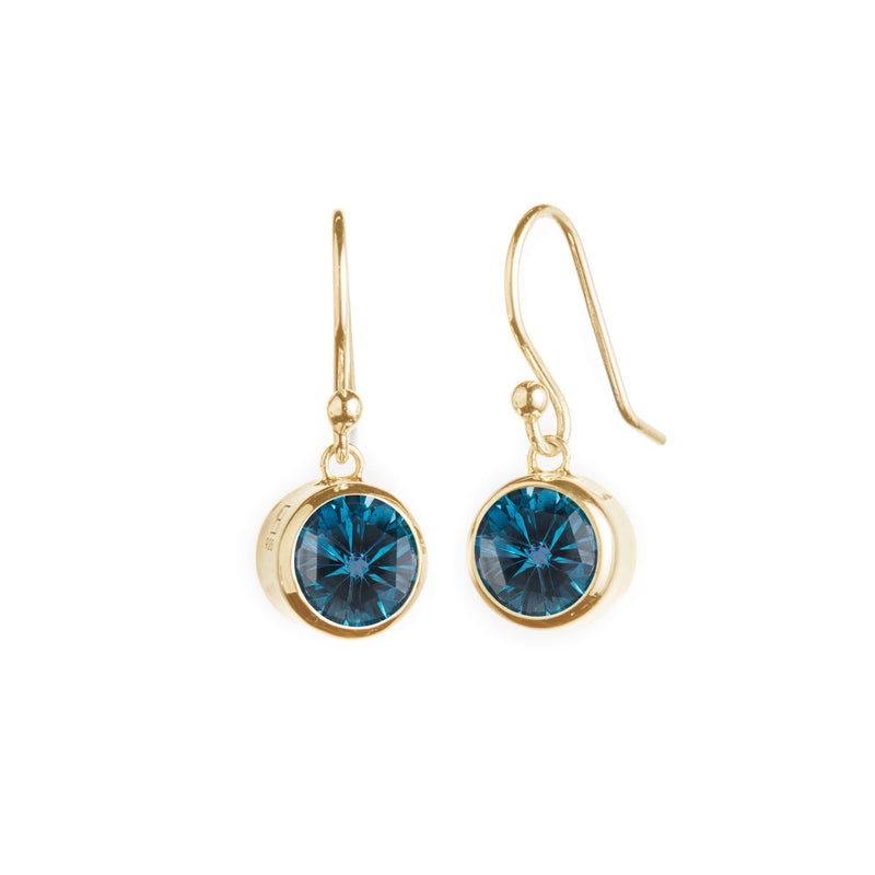 Lang Drop Earrings in 14k Gold with London Blue Topaz