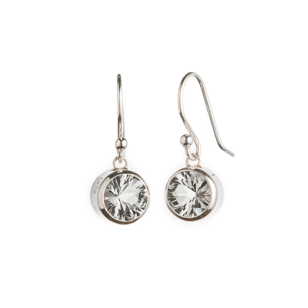 Lang Drop Earrings in Green Amethyst