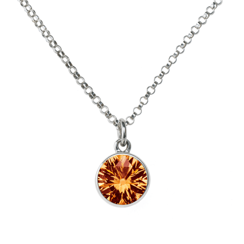 2 Stone Birthstone Necklace 14k Gold