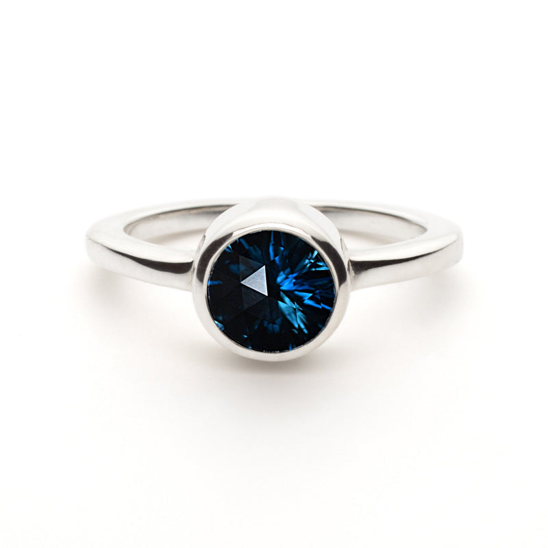 Lang Mini Ring in London Blue Topaz