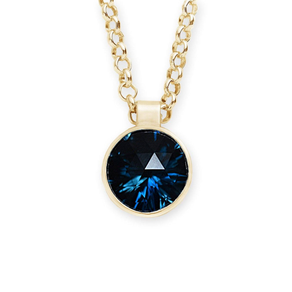 Lang Pendant in 14k Gold with London Blue Topaz